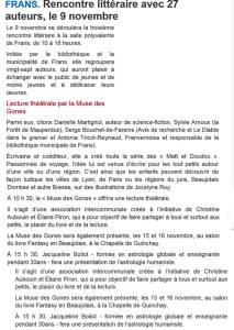Presse présentation du Salon Frans avec La Muse