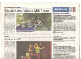Voix de l'Ain 17 juillet 2015 Sylvie Arnoux
